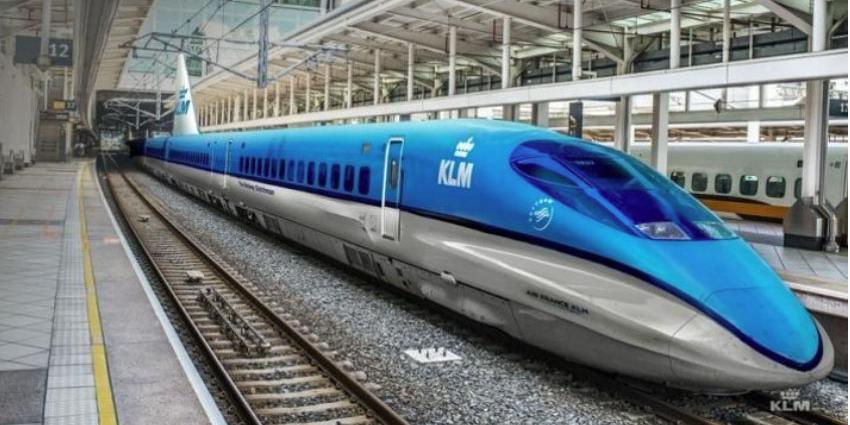 KLM en Schiphol gaan in de treinen