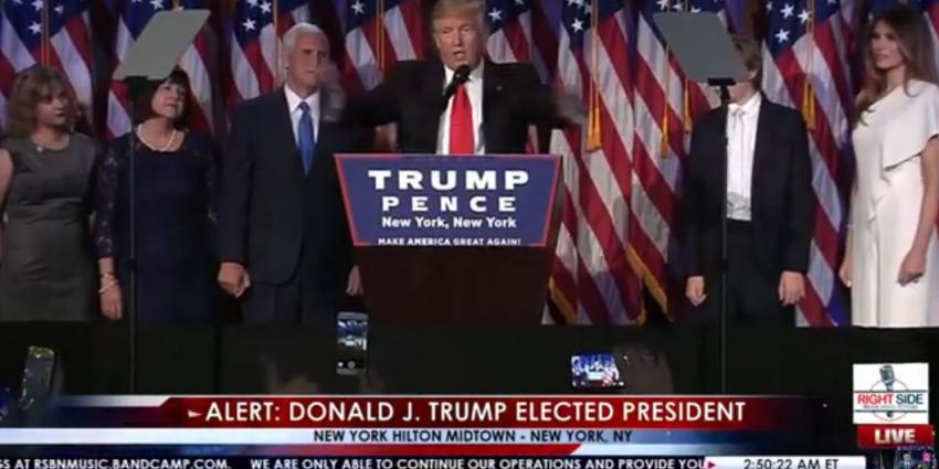 Donald Trump 45e president van de Verenigde Staten