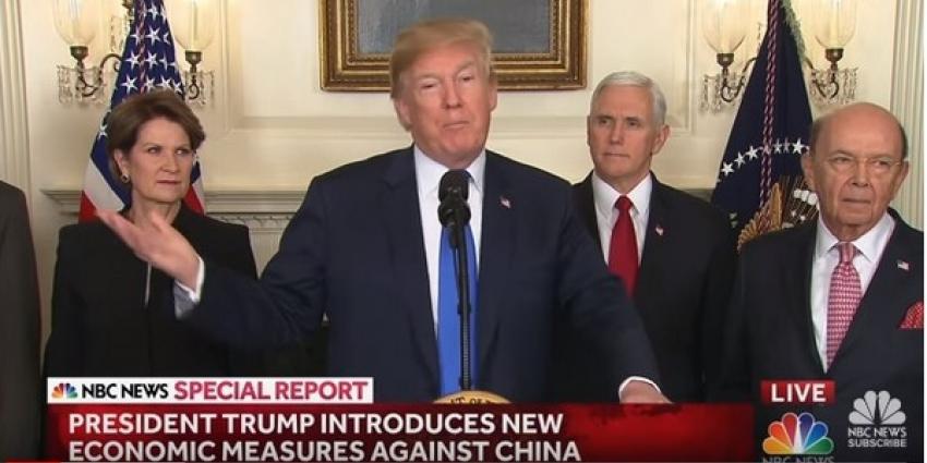 Trump ziet af van importheffing op Europees staal en aluminium