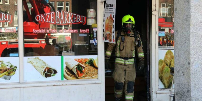 Flinke brand in Turkse bakkerij Rotterdam