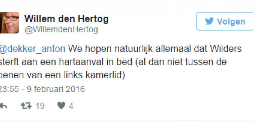 Voorzitter PvdA wenst Geert Wilders dood