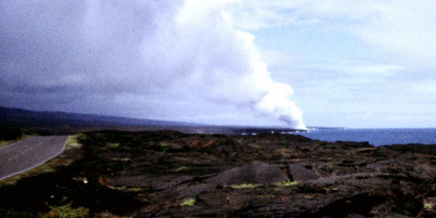 Hawaïanen Big Island op de vlucht voor lava