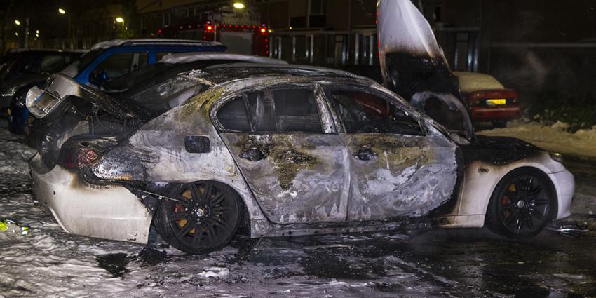 Voor derde nacht op rij weer auto uitgebrand in Den Bosch
