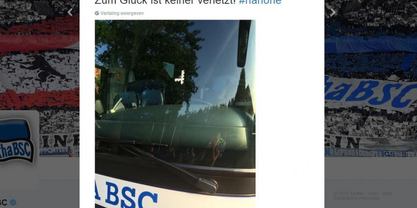 Vandalen beschieten bus Hertha BSC