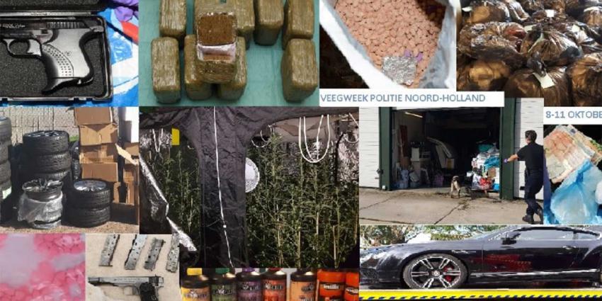Productieve 'veegweek': wapens, geld, auto's en drugs gevonden