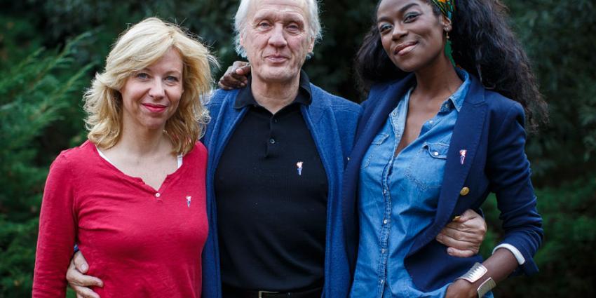 Herman van Veen, Claudia de Breij en Giovanca op 5 mei-concert