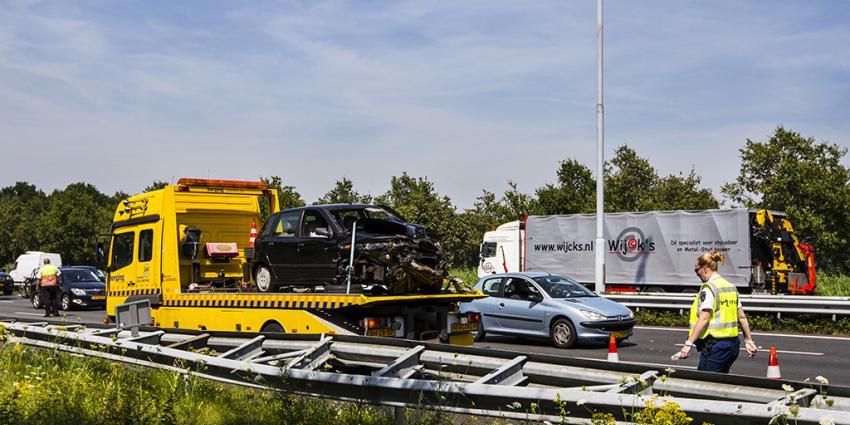 Meerdere gewonden bij ernstig verkeersongeval op A2 bij Boxtel