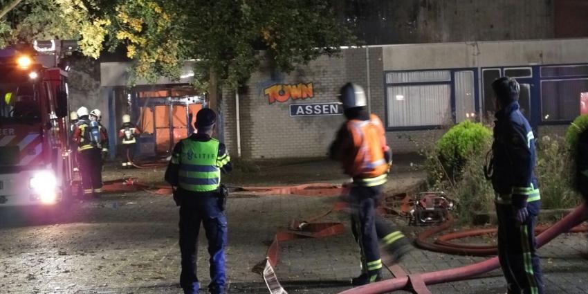 Grote brand bij voormalig verkeerspark Assen