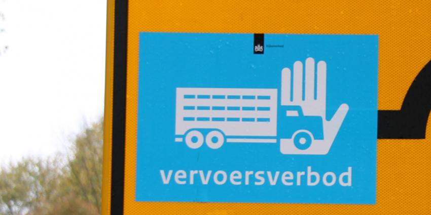 Deel vervoersverbod Biddinghuizen weer ingetrokken