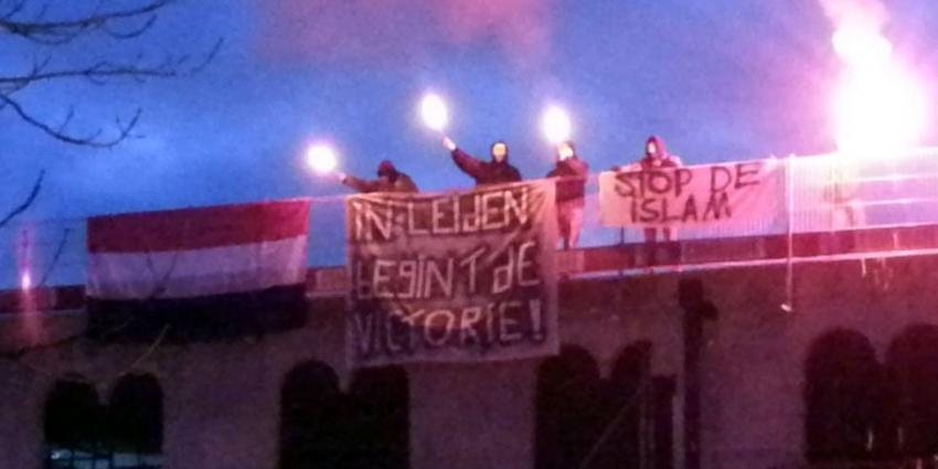 Activisten Identitair Verzet bezetten Al Hijra moskee