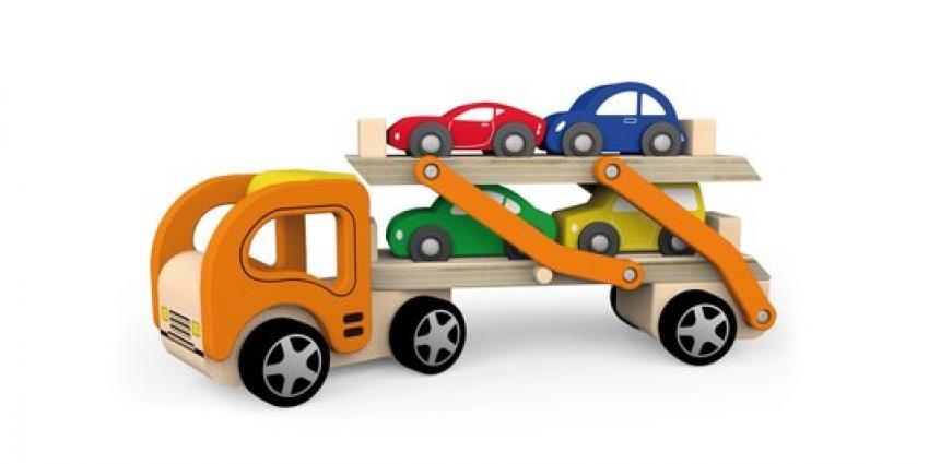 Speelgoed autotransporteur VIGA terug
