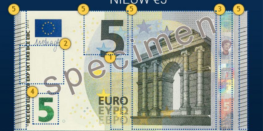 Foto van het nieuwe vijf euro biljet   ECB