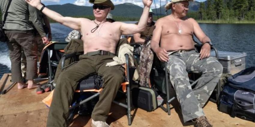 Zo viert president Vladimir Poetin zijn vakantie