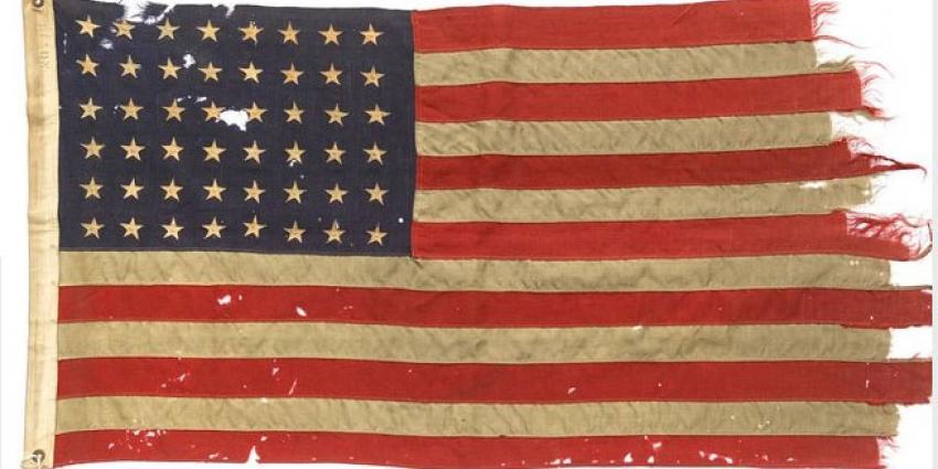 Amerikaanse D-Day vlag nu te zien in Nationaal Militair Museum