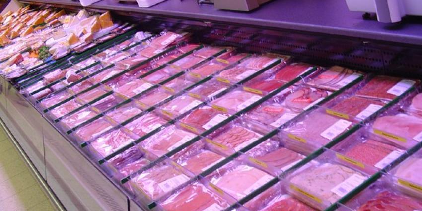 Foto van vleesschap supermarkt