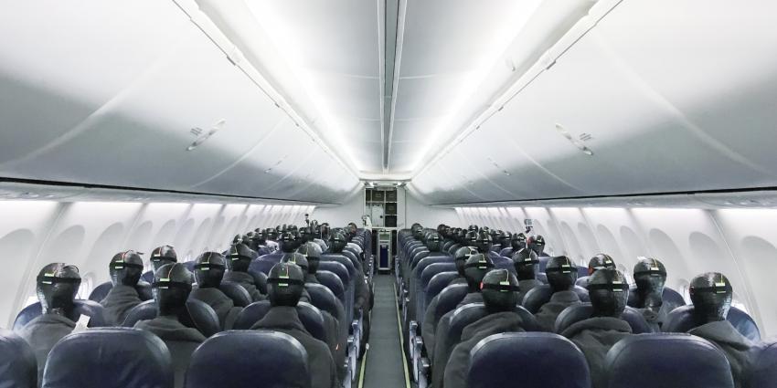 Binnenkant vliegtuig