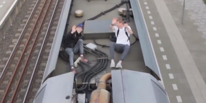 Geen celstraf voor treindak vloggers