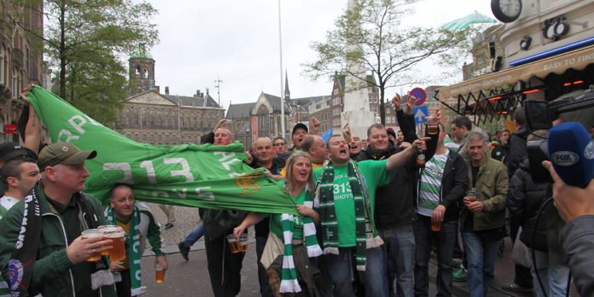 Foto van Celtic fans in Amsterdam | BON