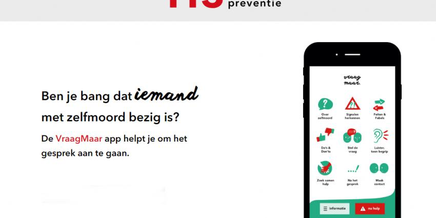 De VraagMaar app van 113 helpt je praten over zelfmoord