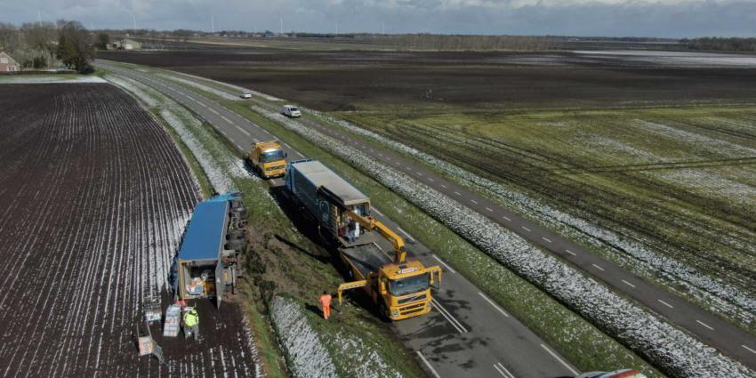vrachtwagen-gekanteld
