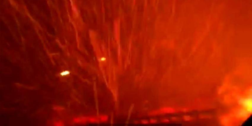 Gezin uit Haarlem ontsnapt met auto aan vuurzee in Californië