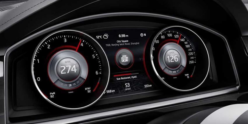 Foto van dashboard VW CrossBlue Coupé | VW
