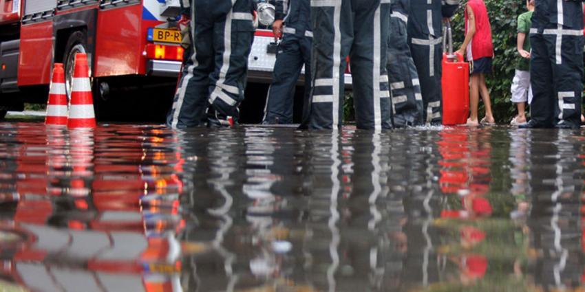 Regen zorgt voor wateroverlast in Landgraaf
