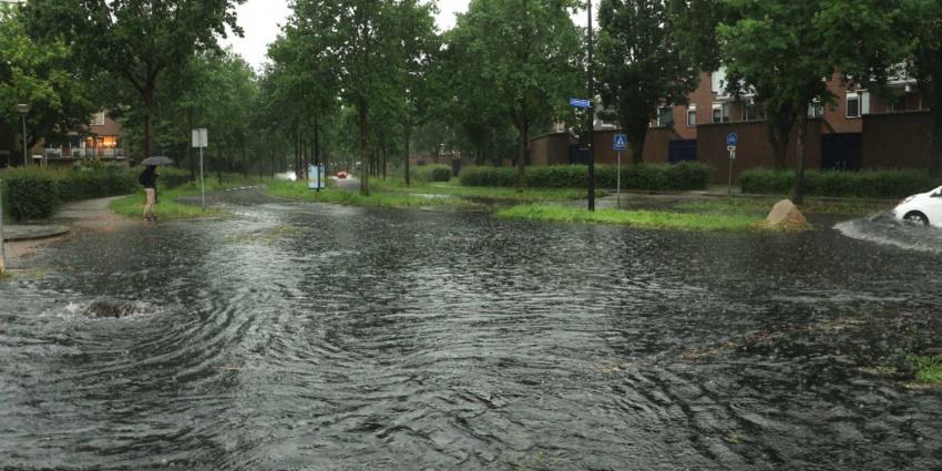 Foto van wateroverlast