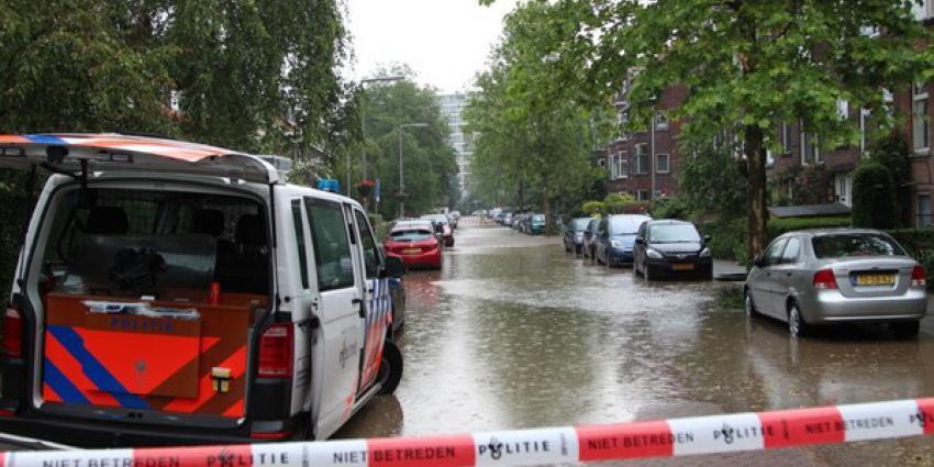 straten onder water, leidingbreuk, gaslekkage, rotterdam-overschie