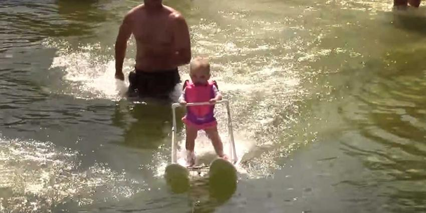 Baby van 6 maanden jongste waterskiër ooit