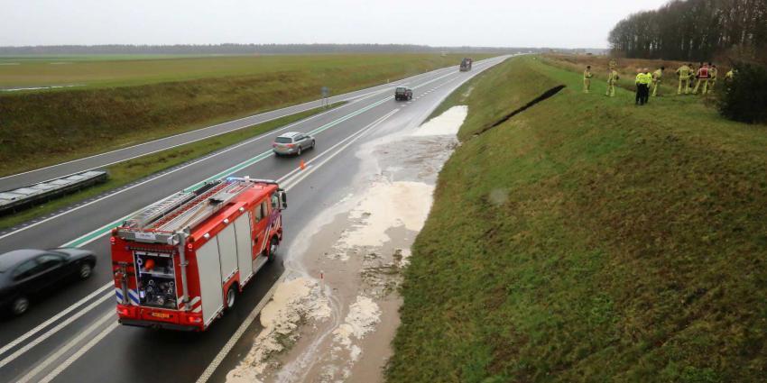 Mol veroorzaakt gat in dijk bij Borger. N34 blank