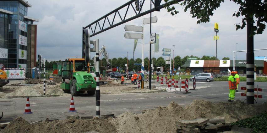 Wegwerkzaamheden Karel Poststraat Heerenveen