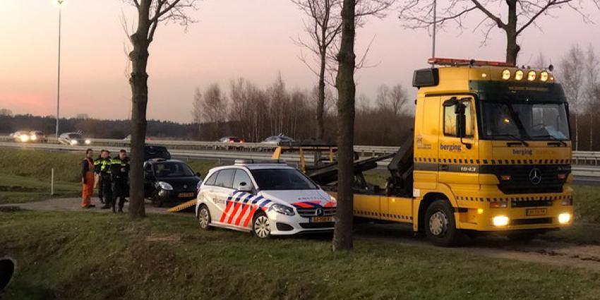 Gestolen auto vastgereden teruggevonden in weiland Boxtel