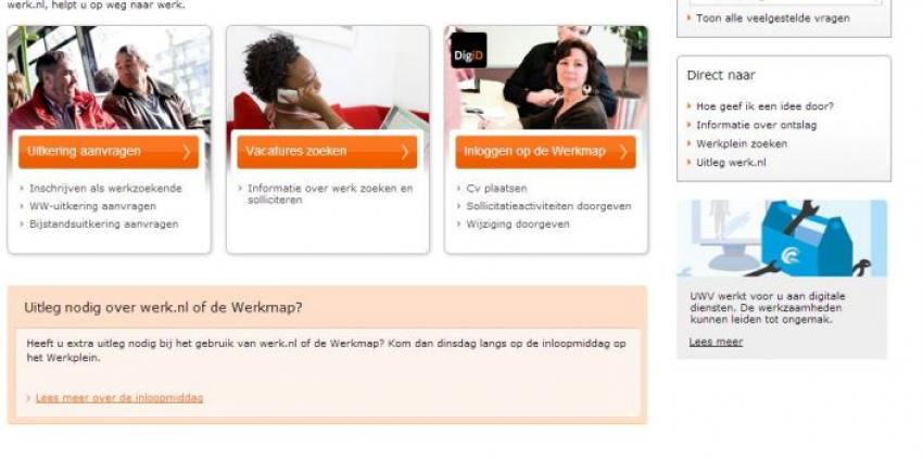 Foto van website werk.nl | Screenshot