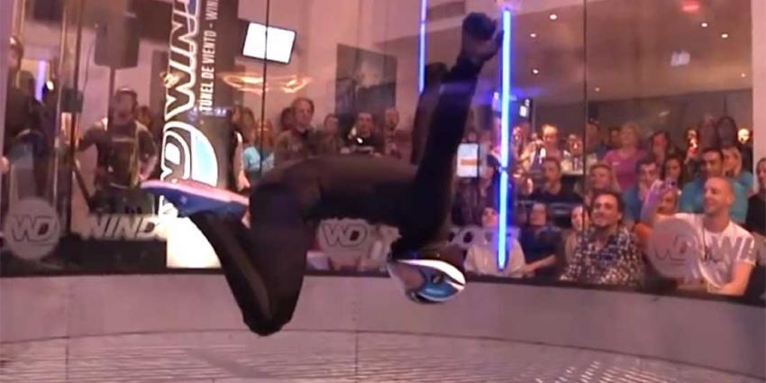 Spectaculaire beelden van dansen in een windtunnel