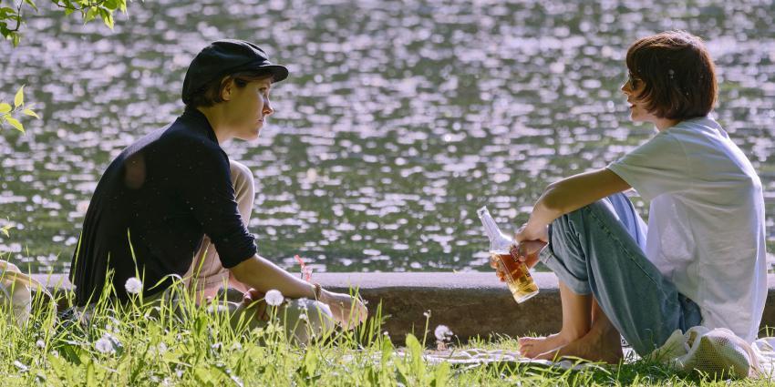 vrouwen in het park