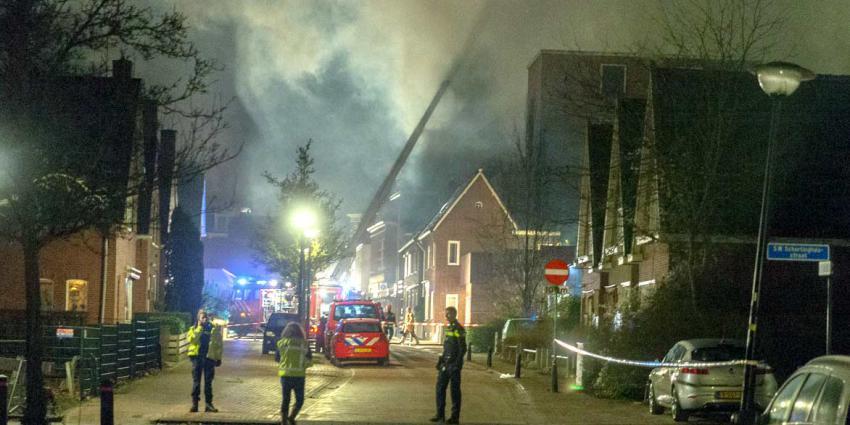 Uitslaande woningbrand centrum van Winschoten
