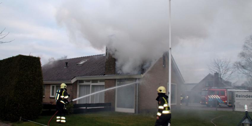 foto van woningbrand   Henk Brunink
