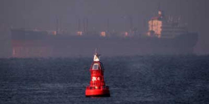 Foto van schip op Noordzee bij boei | Archief EHF