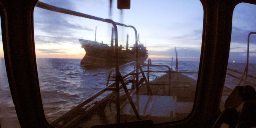 Zeeschepen botsen voor de Belgische kust