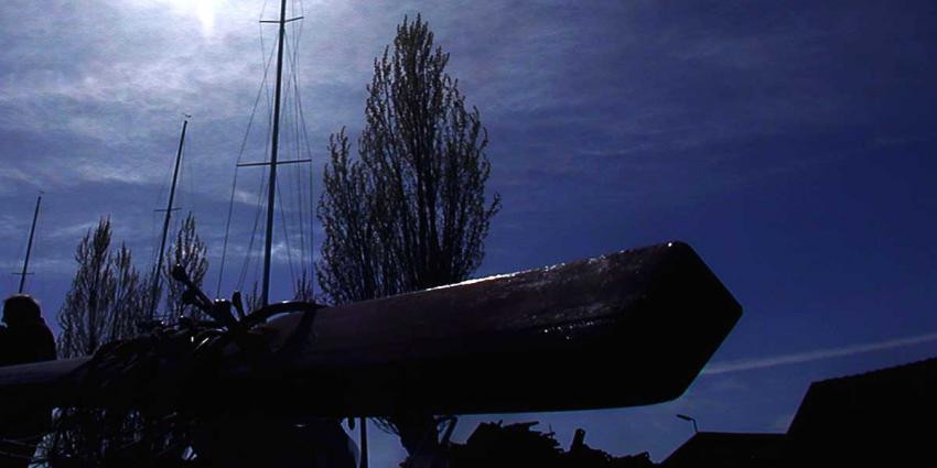 Zeiljacht gezonken in Westgat bij Schiermonnikoog