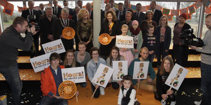 Kinderen en minister Schippers slaan eerste paal Prinses Máxima Centrum