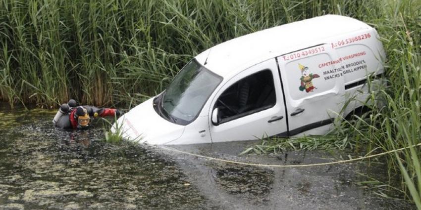 Zoektocht naar te water geraakte auto