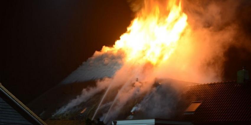 Grote brand in zorgboerderij in Zeijerveen