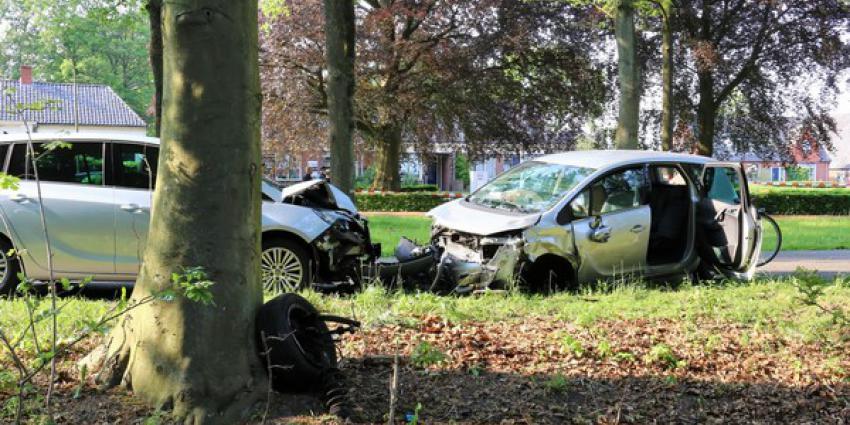 aanrijding, drie gewonden, drie personenauto's
