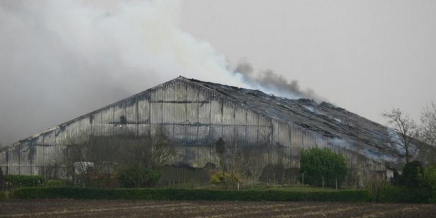 Grote boerderijschuur gaat in Drentse Zuidveld in vlammen op