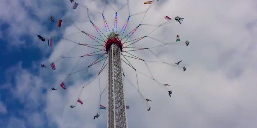 Zweefmolen gaat 80 meter de lucht in