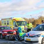 Bromfietser gewond door aanrijding