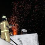 Schoorsteenbrand op vakantiepark