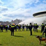 Politie maakt einde aan demonstratie
